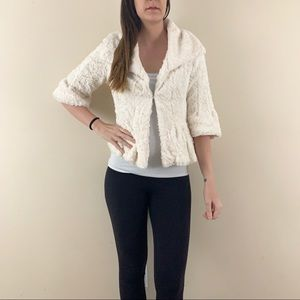 Solitaire white fur cardigan small